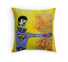 Wonder Twin Zan Day of the Dead Throw Pillow