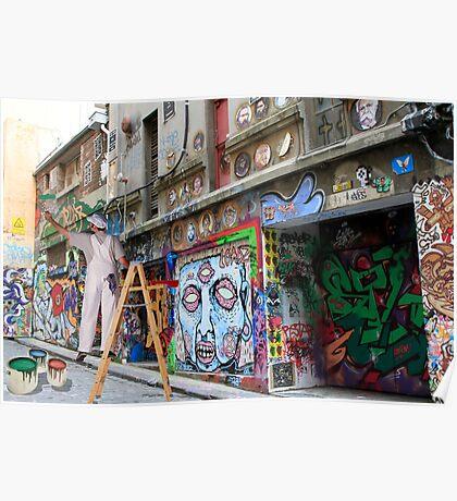 Graffiti in Hosier Lane Poster