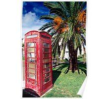 Bermuda Phone Booth Poster