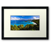 Trunk Bay Panorma Framed Print