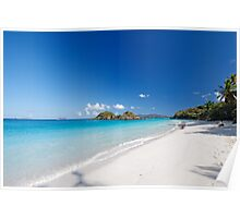 Turquoise Waters of Trunk Bay Poster