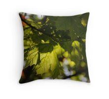 maple's green~ Throw Pillow