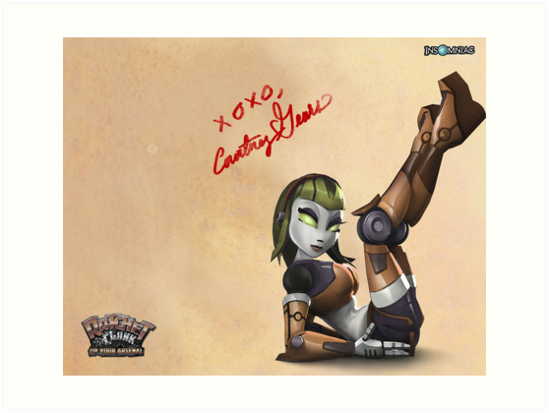 Courtney Gears Signed Poster by Kingofgraphics