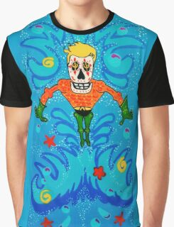 Aquaman Day of the Dead Graphic T-Shirt