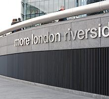 More London Riverside sign by Keith Larby