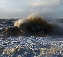 Stormy Waves of Blackpool by Sarah Williams