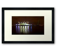 The O2 London at night Framed Print