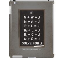 Westerosi Math 101 iPad Case/Skin