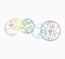 Rainbow Gallifreyan by mariefelix