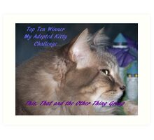Banner for Top Ten Winner - My Adopted Kitty Art Print