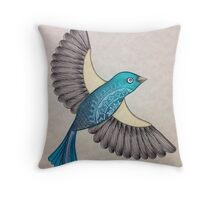 With Open Wings Throw Pillow