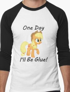 "Apple Jack ""One Day Ill Be Glue:  Men's Baseball ¾ T-Shirt"