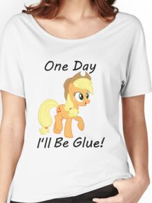 """Apple Jack """"One Day Ill Be Glue:  Women's Relaxed Fit T-Shirt"""