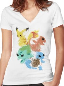 Starters Women's Fitted V-Neck T-Shirt