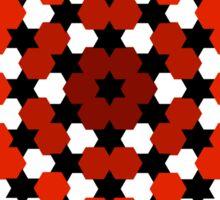 Red hexagon Sticker