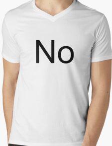 No Mens V-Neck T-Shirt