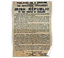 1916 EASTER RISING PROCLAMATION  Poster