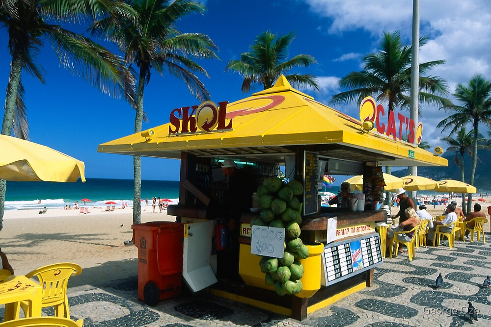 Kiosk of Ipanema by George Oze