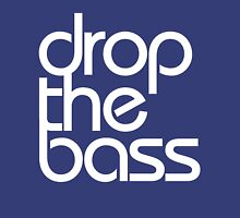 Drop The Bass (white) Womens Fitted T-Shirt