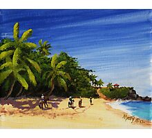 """Domes Beach by Horseback"" Rincon, Puerto Rico Photographic Print"