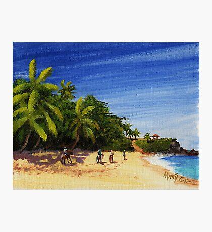 """Domes Beach by Horseback"" Rincon, Puerto Rico Photographic Print"