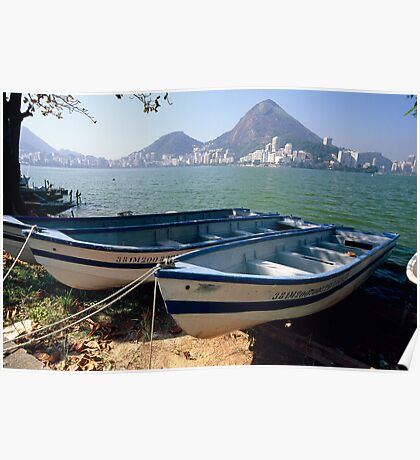 Fishing Boats of Rio Poster