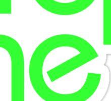 Drop The Bass (neon) Sticker
