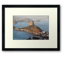 Sugarloaf from Above Framed Print