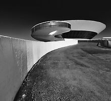 UFO in Black and White by George Oze