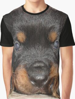 Female Rottweiler Puppy, Head Resting Between Paws Graphic T-Shirt