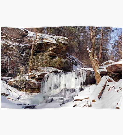 B. Reynolds Waterfall, Turning To Ice Poster