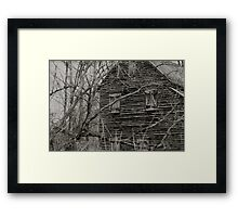 West Point on the Eno river mill, Durham, NC Framed Print