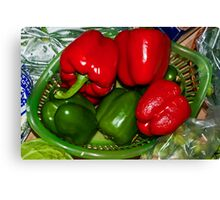 Christmas Peppers Canvas Print