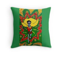 Robin Day of the Dead Throw Pillow