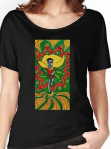 Robin Day of the Dead Women's Relaxed Fit T-Shirt