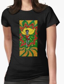 Robin Day of the Dead Womens Fitted T-Shirt