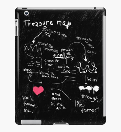 Treasure map iPad Case/Skin