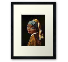 Barbie with a Plastic Earring Framed Print