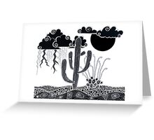 Nighttime Desert Monsoon Storms Greeting Card