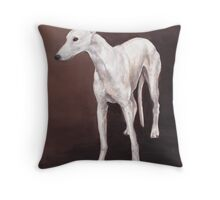 White greyhound Throw Pillow