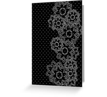 Polka Dot and Flowers Decoration Greeting Card