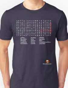 Coffee Monkey - Word Search (updated) Unisex T-Shirt