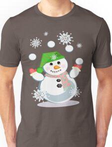 Juggling Snowman Unisex T-Shirt