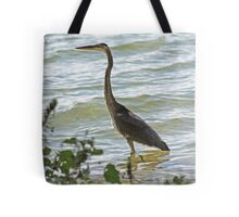 Wading Great Blue Heron Tote Bag