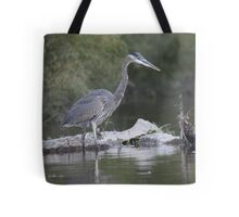 Great Blue Heron on Milwaukee River Tote Bag