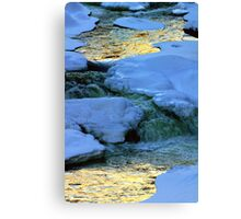 Abstract River Ice Canvas Print