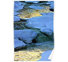 Abstract River Ice Poster