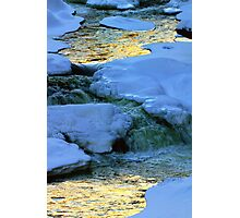 Abstract River Ice Photographic Print