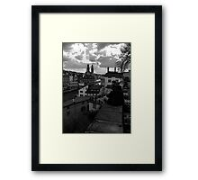 View Over Old Zurich Town Framed Print
