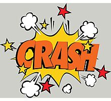 COMIC BOOK: CRASH! Photographic Print